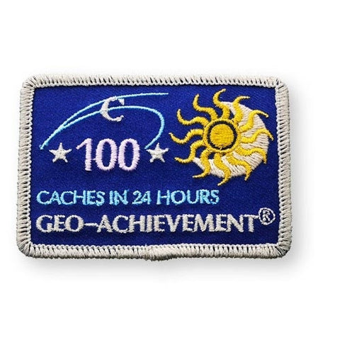 100 Finds in 24 Hours Geo-Achievement™ Patch for geocaching