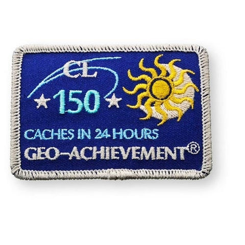 150 Finds in 24 Hours Geo-Achievement™ Patch for geocaching