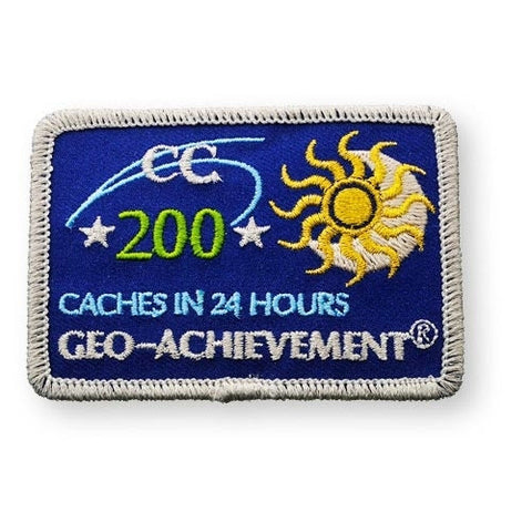 200 Finds in 24 Hours Geo-Achievement™ Patch for geocaching