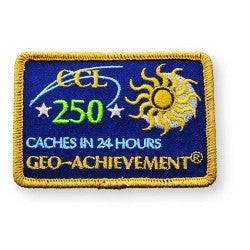 250 Finds in 24 Hours Geo-Achievement™ Patch for geocaching