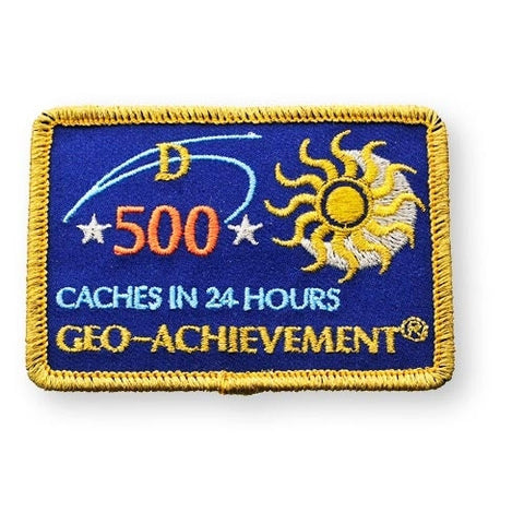500 Finds in 24 Hours Geo-Achievement™ Patch for geocaching