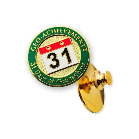 31 Days of Caching Geo-Achievement™ Pin for geocaching