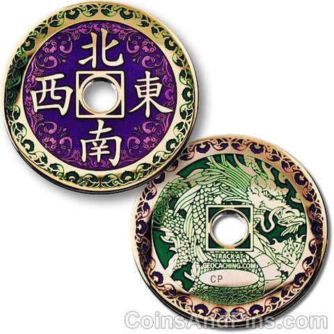 Chinese Dragon Geocoin