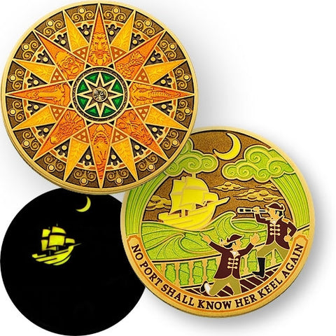 Compass Rose Geocoin - Sahara