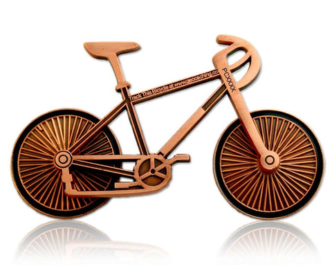 Bicycle Geocoin (Antique Copper) for geocaching