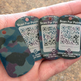 Munzee Dog Tag (Camo)