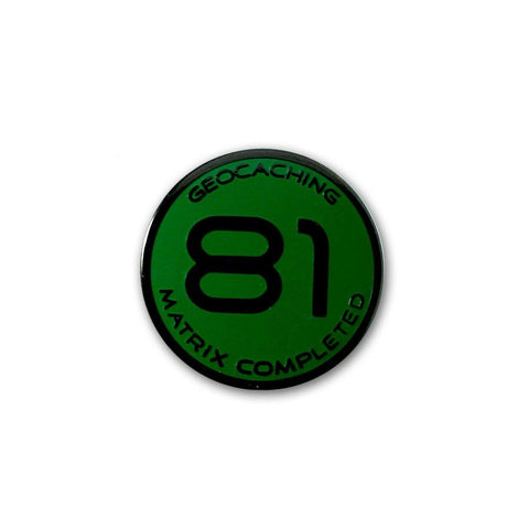 81 Matrix Pin (Green) for geocaching