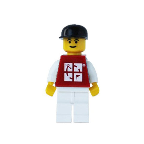 Trackable LEGO Figure (White/Red/Black)