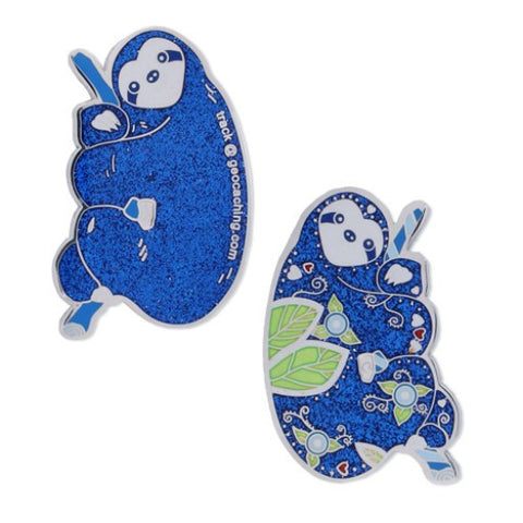 The Sloth Geocoin- Blue