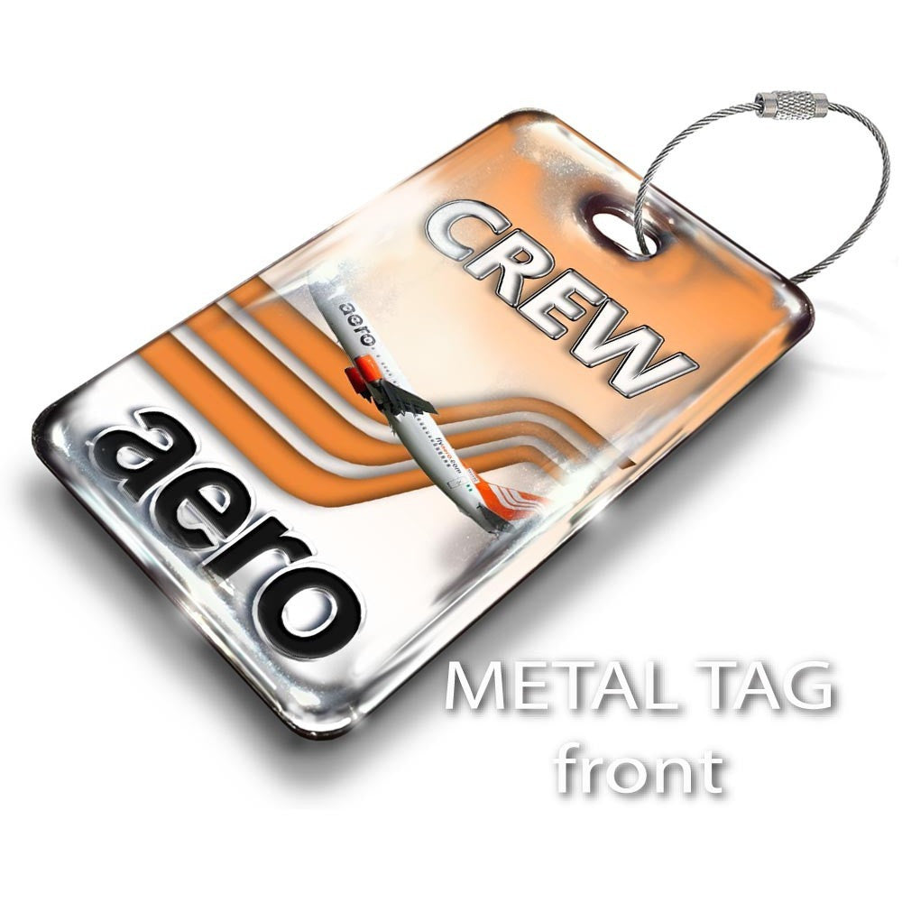 Aero Contractors B737 Portrait Luggage Tag