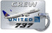 United Airlines B737 Silver