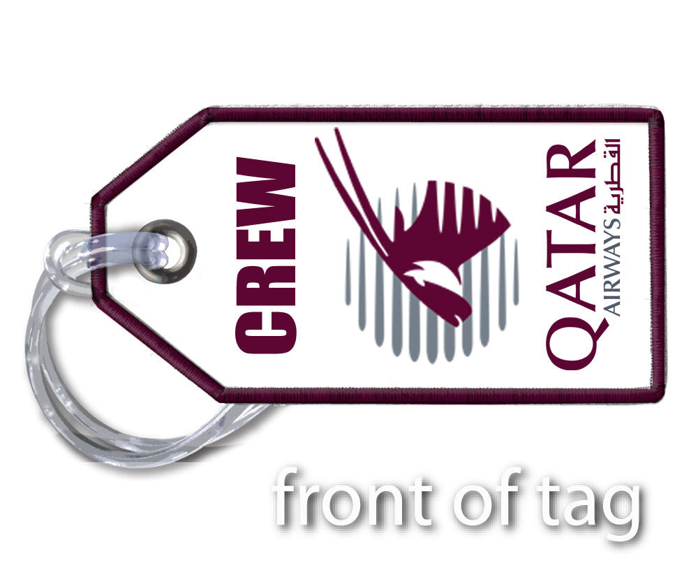 Qatar Airways- Embroidered Tag