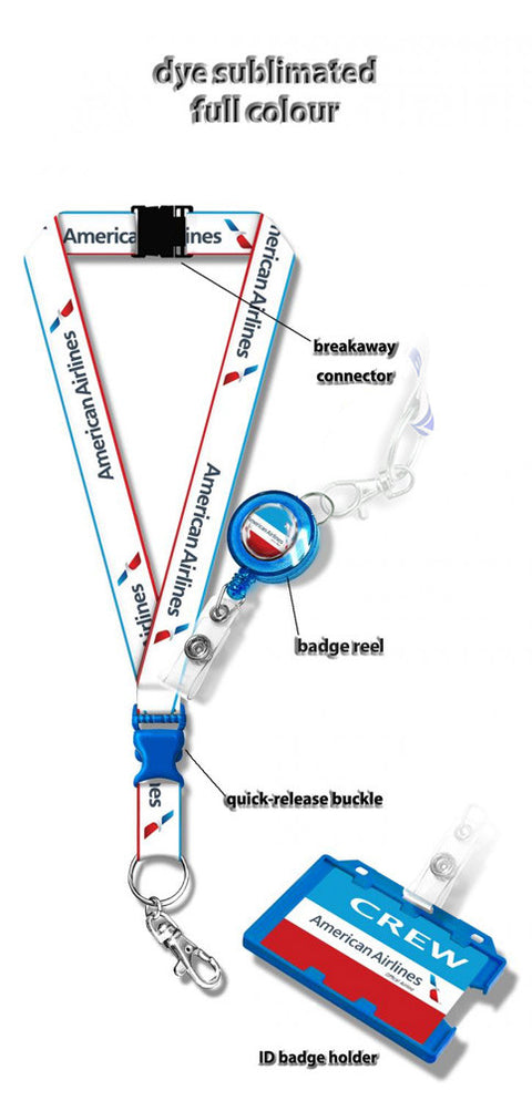 American Airlines Dye Sublimation Lanyard