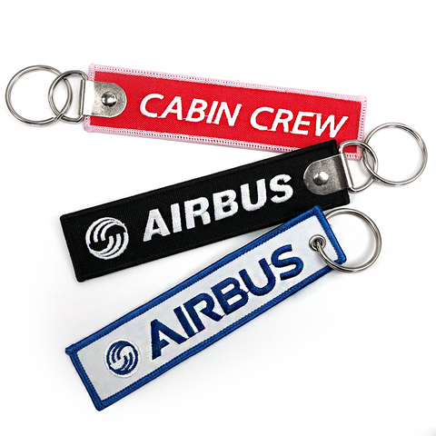 Airbus-Cabin Crew Embroidered Keyring