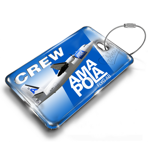 Amapola Airlines Fokker 50 Crew Luggage TAG