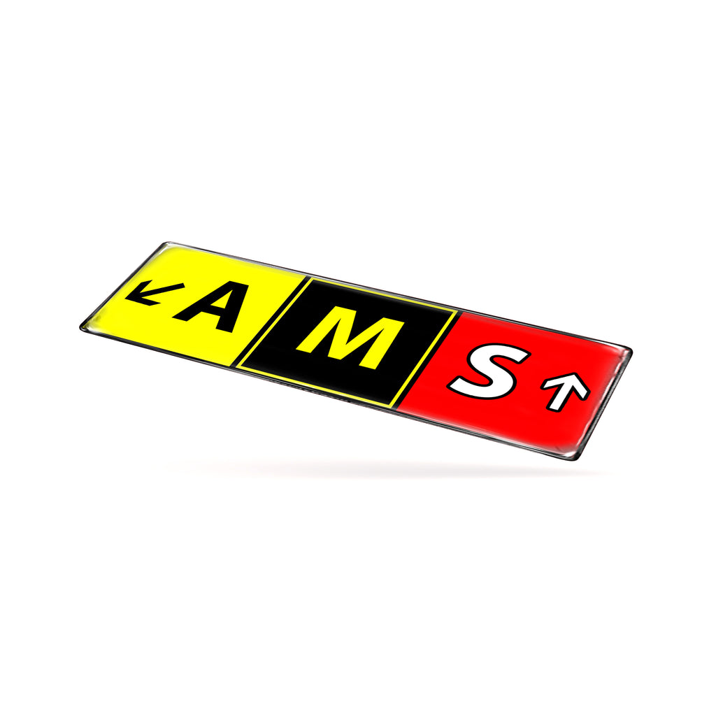 AMS Airport Code Sticker