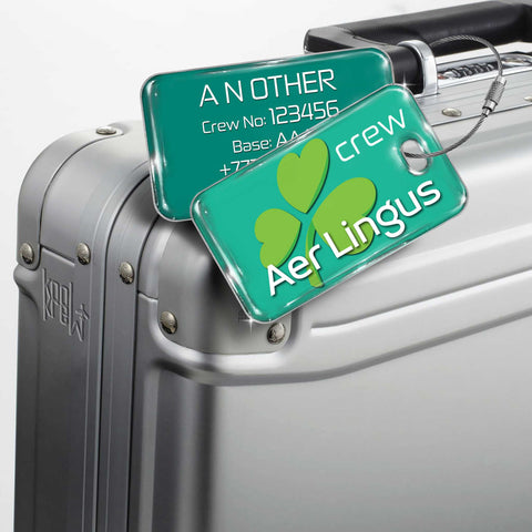Aer Lingus Landscape GREEN 2 Luggage Tag