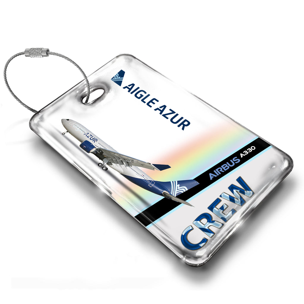 Aigle Azur A330 White Luggage Tag