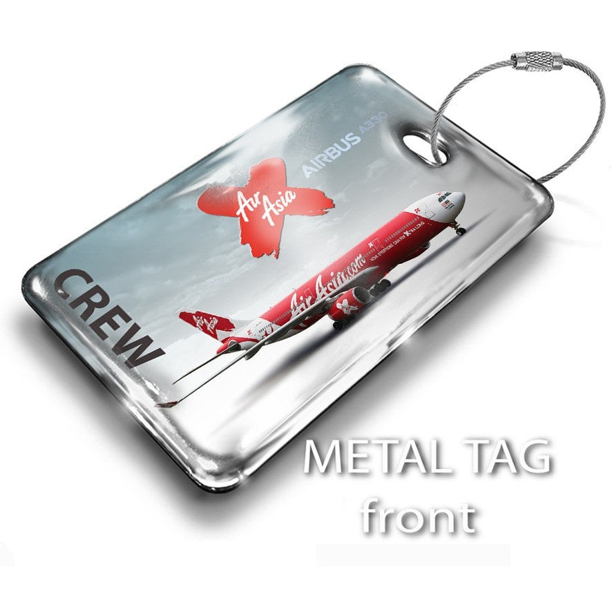 Air Asia X A330 Landscape Luggage Tag