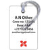 Air Asia X Logo 3D Luggage Tag
