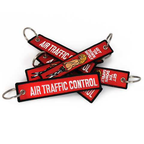 Air Traffic Control-Get 'Em down Safely Keyring