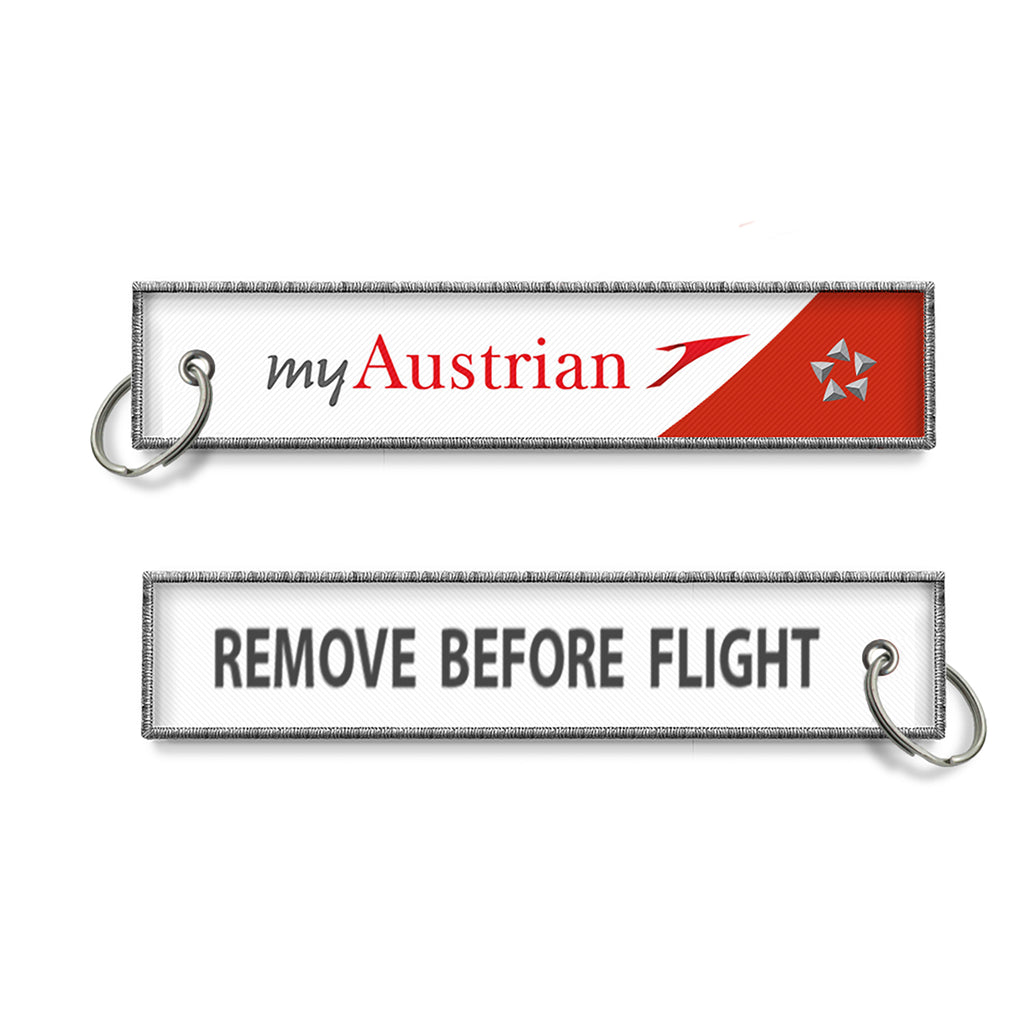 Austrian Airlines Remove Before Flight Keyring
