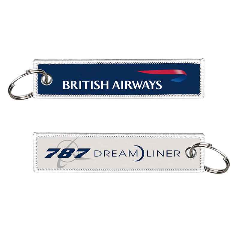 British Airways 787 Dreamliner Woven Keyring