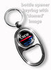 British Airways Logo Black Portrait Metal Keyring