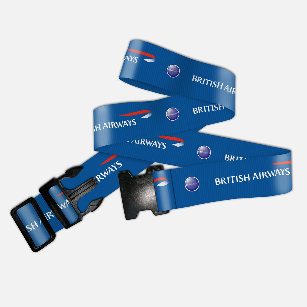 British Airways Blue Crew Luggage Straps