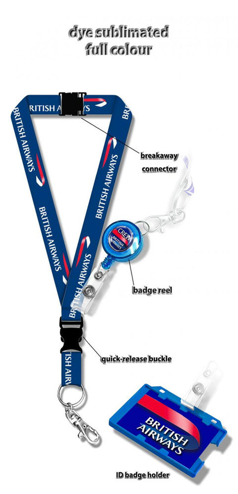 British Airways Dye Sublimation Lanyard