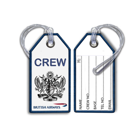 BA To Fly, To Serve Embroidered Tag White