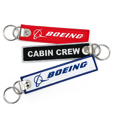 Boeing-Cabin Crew Embroidered Keyring