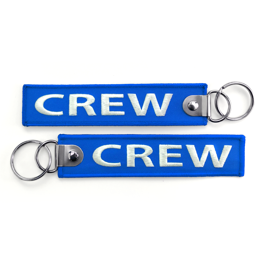 Crew Embroidered Keyring-BLUE (Buckle)