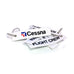Cessna Flight Crew White Key Chain
