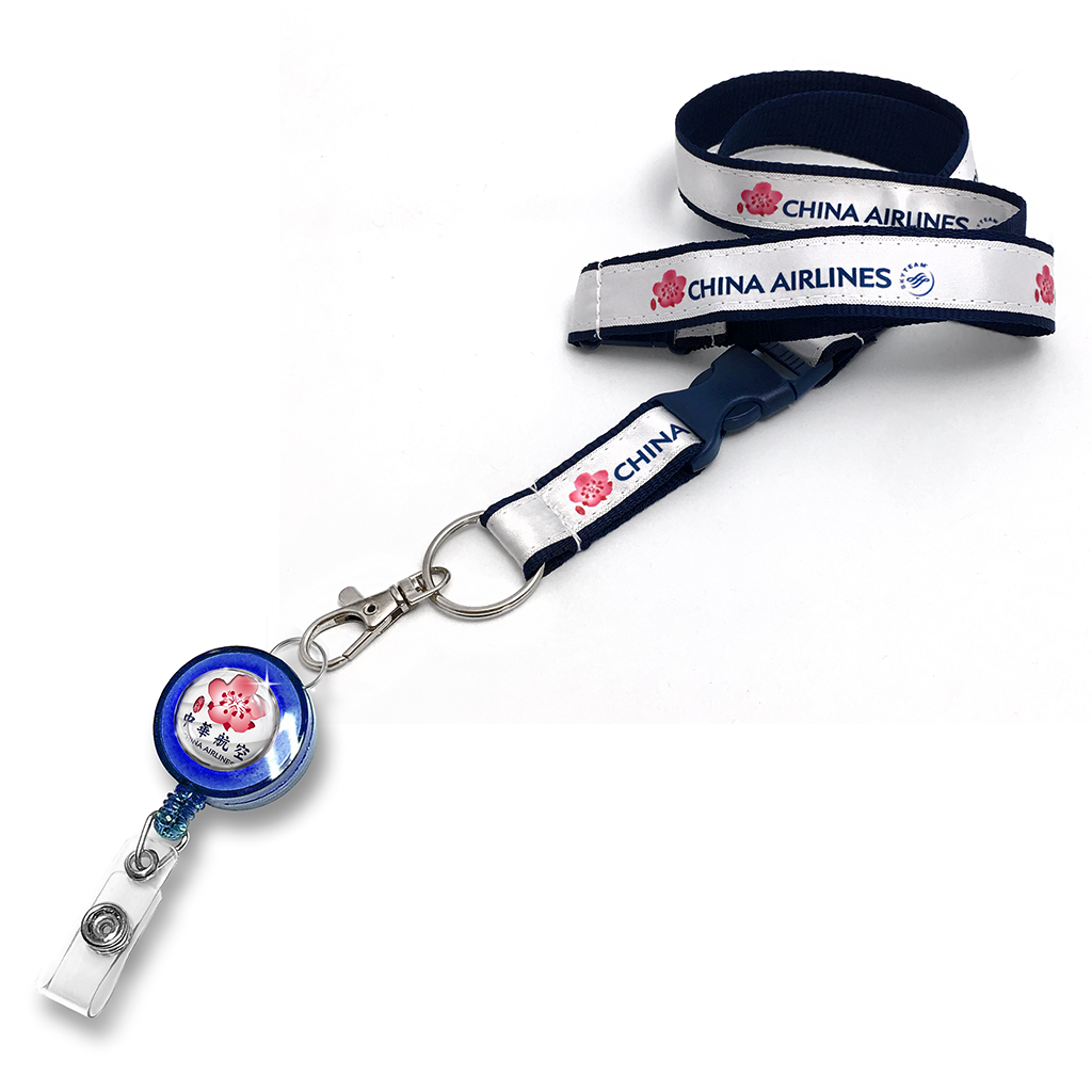 China Airlines Logo Satin Polyester
