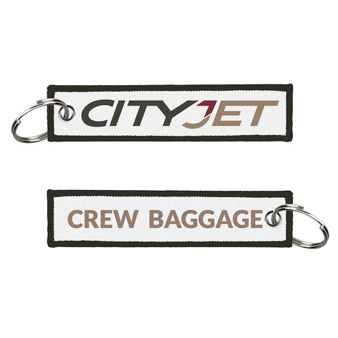 CityJet Crew Baggage Embroidered Keyring