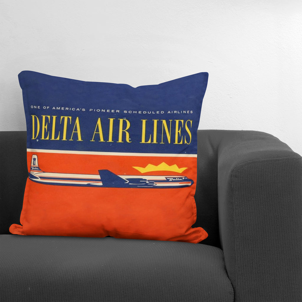 Delta Air Lines Nostalgic Throw Pillow