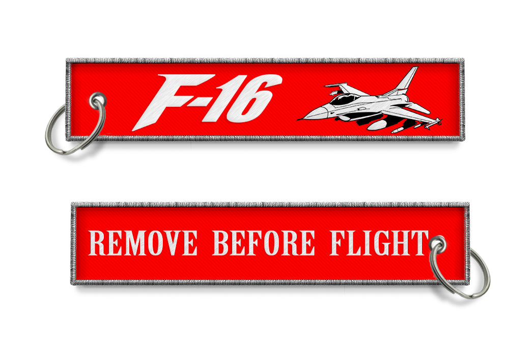 F-16 Remove Before Flight Woven Style