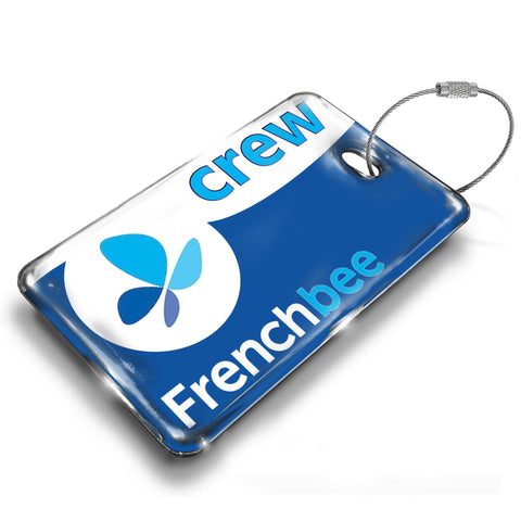 French Bee Logo Luggage Tag