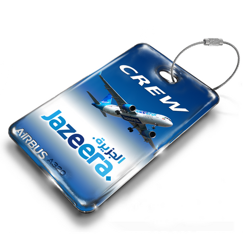 Jazeera Airways A320 Landscape Luggage Tag