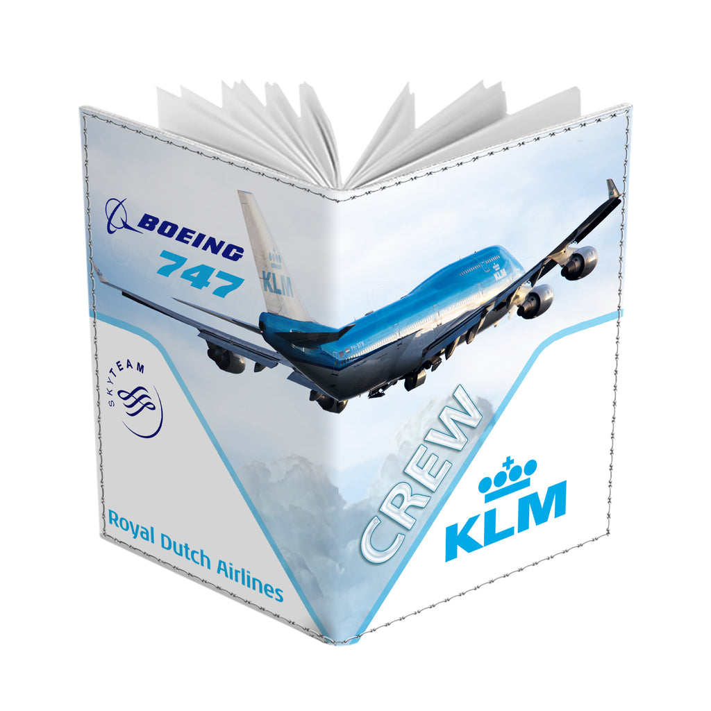 KLM Boeing B747 Passport Cover