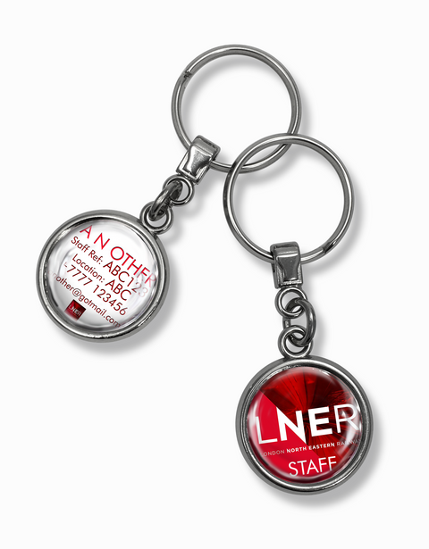 LNER Trains Logo Metal Keyrings
