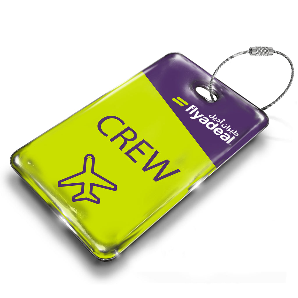flyadeal Logo Portrait Luggage Tag