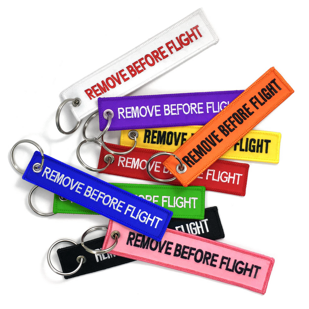 Remove Before Flight-Multi Pack Keyrings 9pcs