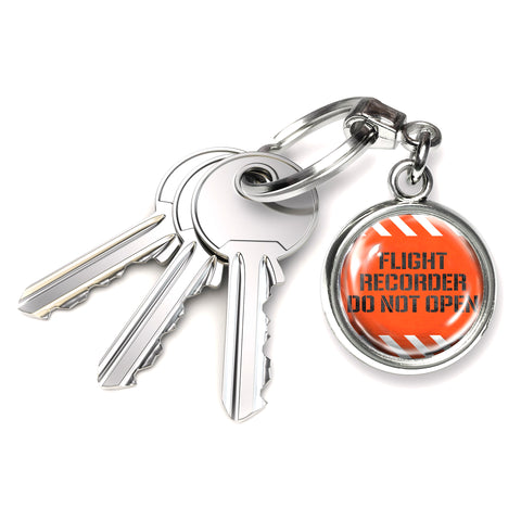 Orange Box Round Keyring