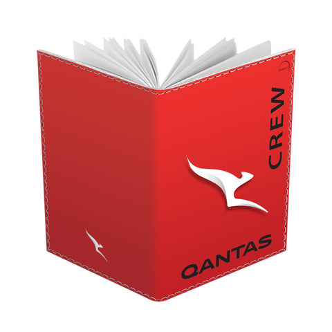 Qantas Portrait Red CREW-Passport Cover