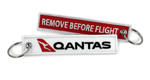 Qantas Remove Before Flight Keyring