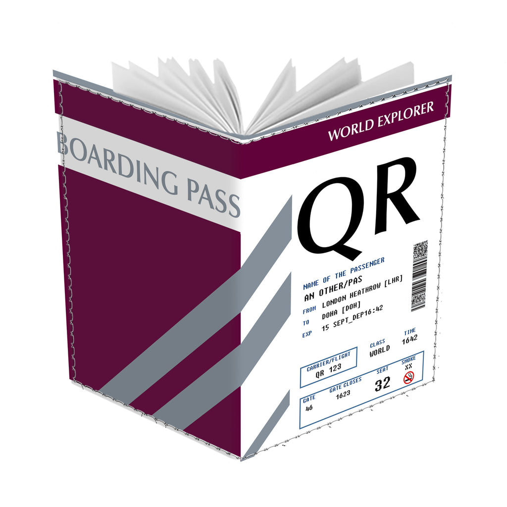 Qatar Boarding Pass - Passport Cover