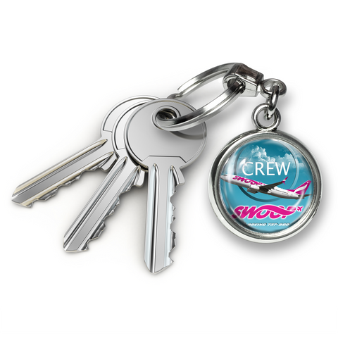 Swoop B737-800 Metal Keyrings