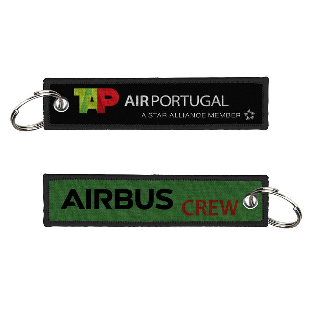 TAP Air Portugal-Airbus Crew WOVEN Keychain( NEW logo)